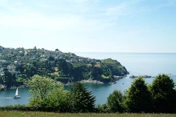 Looking across the estuary towards Polruan from Fowey, just a short drive away.