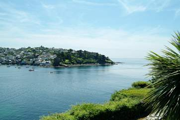 Looking towards Fowey estuary from the Esplanade in the town.