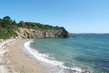 Porthpean beach is popular with families and watersports enthusiasts.