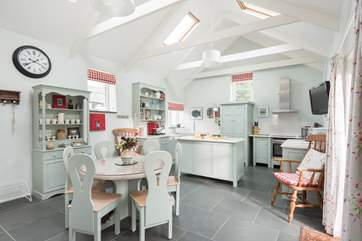 The wonderfully airy and spacious kitchen/dining-room.