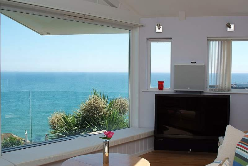 A large television and amazing sea views, what more could you ask for!