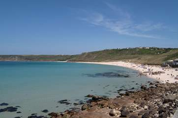 Just eight miles distant, Sennen Cove is a stunning beach perfect for surfing or just relaxing.