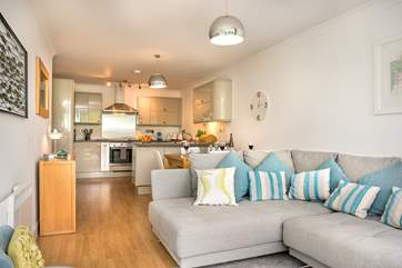 The open plan living room will ensure you enjoy time together