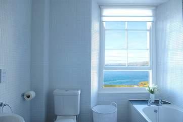Even the bathroom has fabulous views.