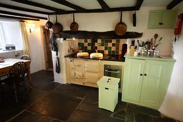 The beautiful kitchen complete with Aga cooker.