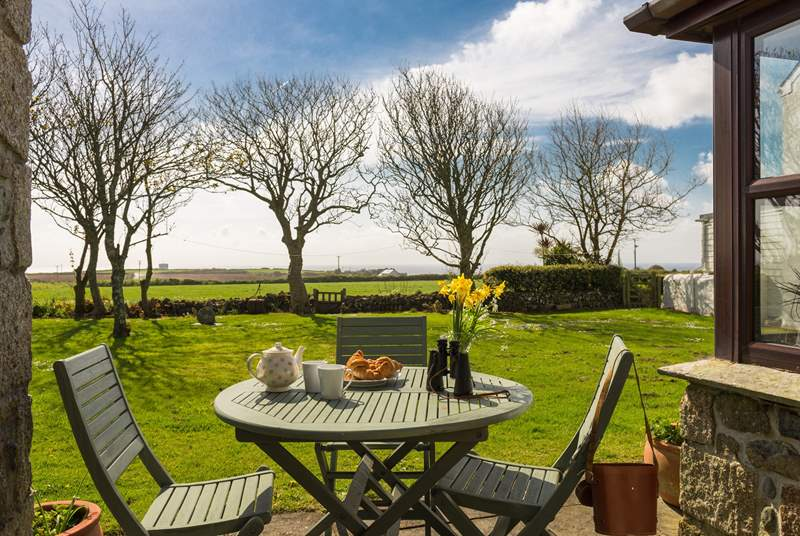 Enjoy breakfast in the garden with that view.
