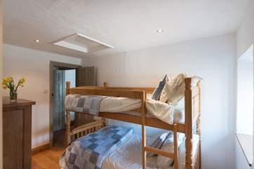 The bunk room is ideal for the young ones, they just have to decide who has the top bunk!