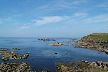 The stunning view from outside the Lizard Point cafe.