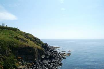 Walk eastwards along the spectacular coast path to Housel Bay, or on to Cadgwith Cove.
