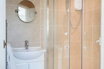 The en-suite shower room.