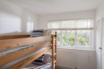 The bunk bedroom (Bedroom 3) is ideal for children.
