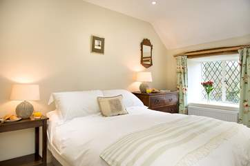 Each bedroom is individually styled- lovely linens and furniture in the double bedroom (Bedroom 3)