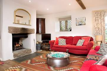Underfloor heating and the open fire makes this an ideal retreat all year round