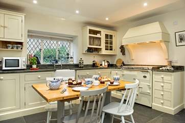 The bespoke kitchen, breakfast room