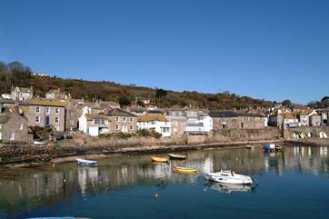 Mousehole harbour is a pleasant two mile walk along the water's edge.