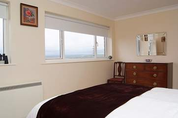 Bedroom 1 has lovely sea views.