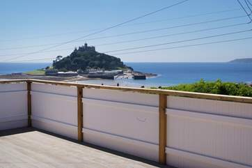 Enjoy the view of St Michael's Mount from the small garden.