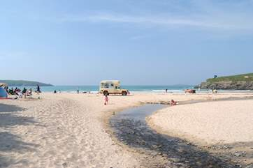 Harlyn beach just down the road.