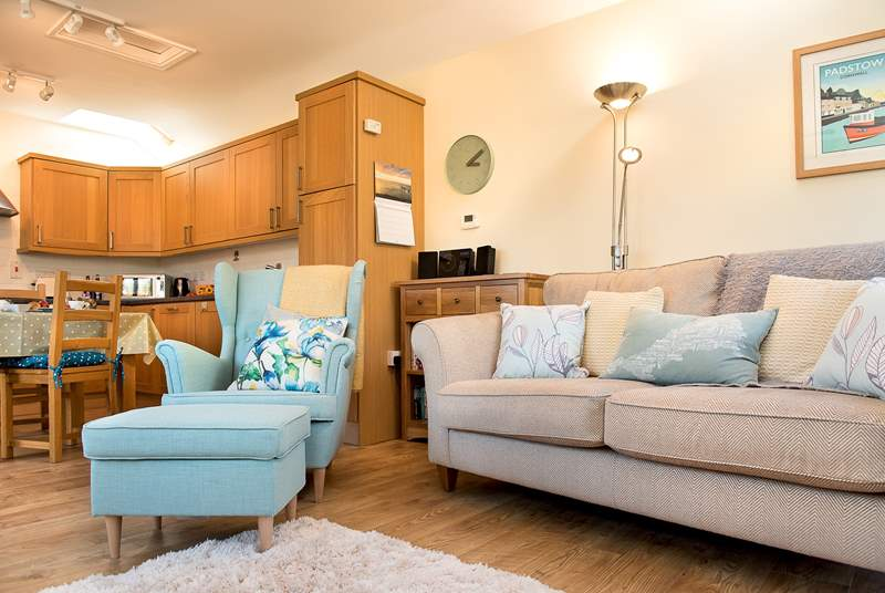 The open plan living area is a wonderful place to unwind and relax
