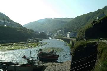Boscastle Harbour.