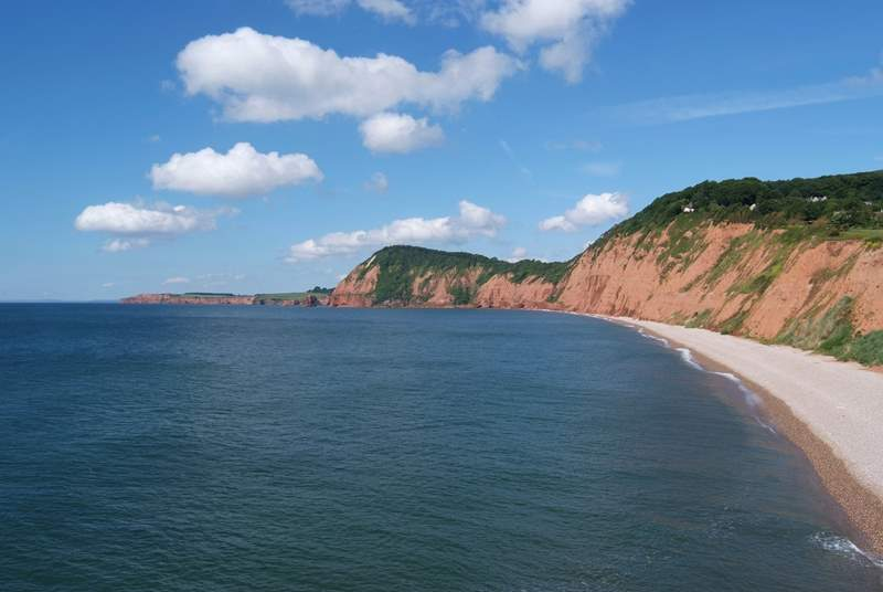 Sidmouth, a Regency town with lovely pebble beaches, is a short drive away.