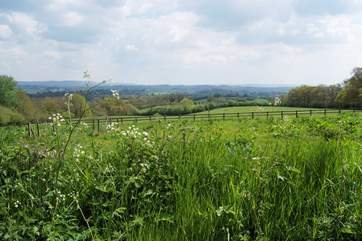 This is the panoramic view from the garden in front of cottage - unspoilt countryside as far as the eye can see.