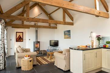 The cosy wood-burner makes this a great retreat whatever the weather.