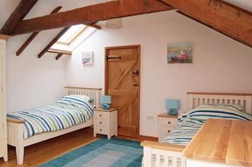 Bedroom 2, a twin room.