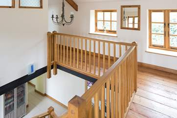 A lovely wooden staircase.