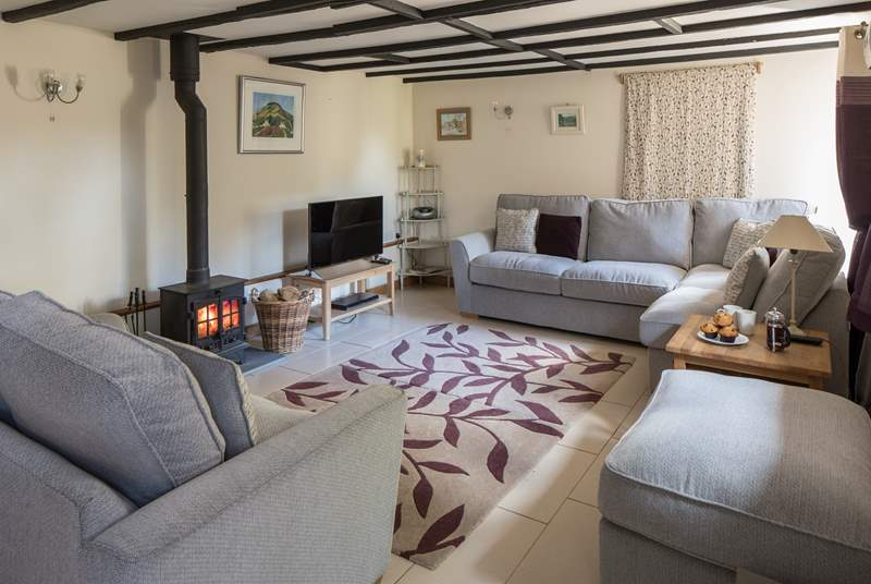 The super comfy living room is a very welcoming sight following an action packed day.