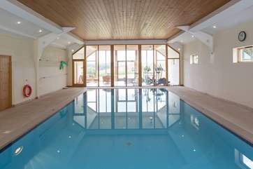 The wonderful indoor pool.