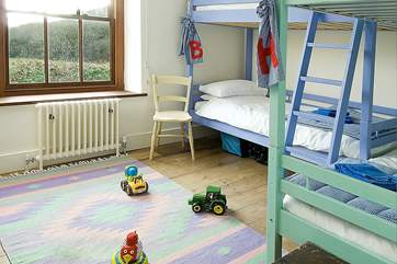The twin bunk room.
