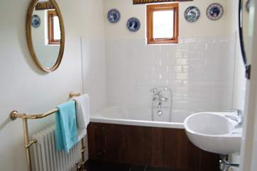 The bathroom on the ground floor in the annexe.