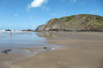 The beach at low tide is spectacular.