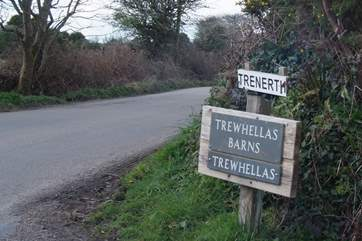 As you get close to your destination there is a sign to the barns at the end of the lane, you are nearly there.