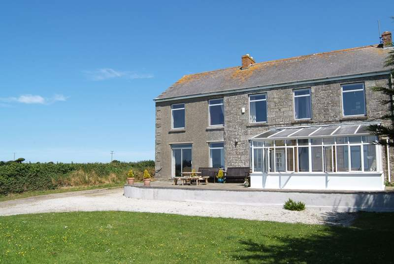 The exterior of Gweal Brooth, a lovely, spacious old farmhouse ideal for large family groups.