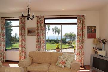 Sea views from the sitting-room.