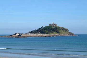 St Michael's Mount in Marazion is just three miles away.