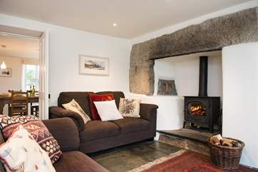 You'll enjoy time curled up in front of the wood-burner.