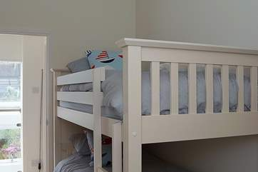 Bedroom 2 is furnished with bunk-beds and is perfect for younger children.
