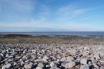 The amazing beach at Kilve on the north Somerset coast. This is an Area of Outstanding Natural Beauty and famous for fossils.
