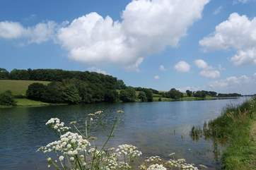 Head up into the Quantock Hills across the Vale of Taunton. This is Headford Reservoir. There is a parking/viewing point where you can take in the beautiful view.