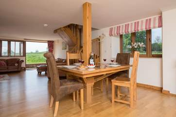 The open plan ground floor is spacious, bright and has French windows opening out to the garden.
