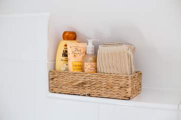 You will find a little basket of treats in the bathroom.