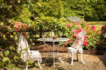 Relax outside in the sun with a well-deserved drink or morning coffee.