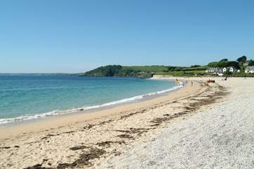 Gyllyngvase beach is less than a mile from Quayside.