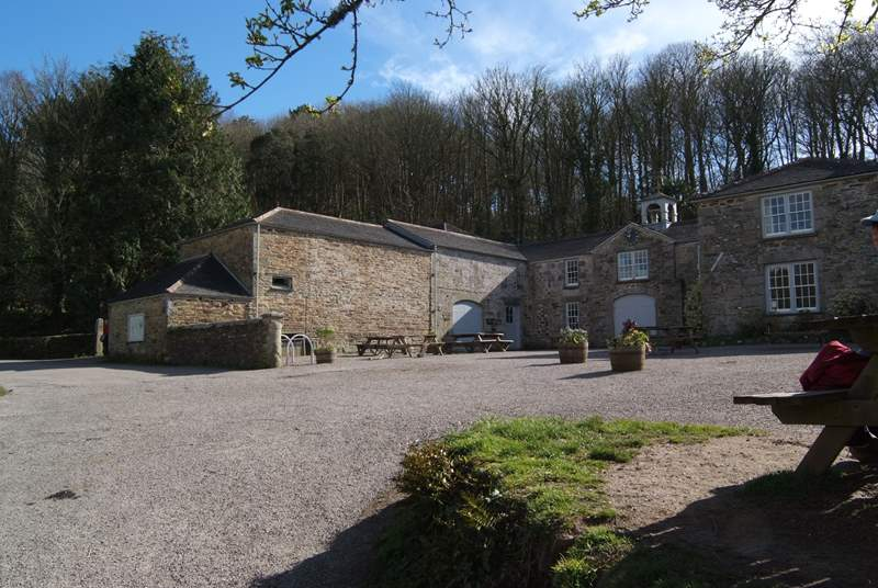 One of the old stables at Penrose is now a cafe where you can stop for refreshments.