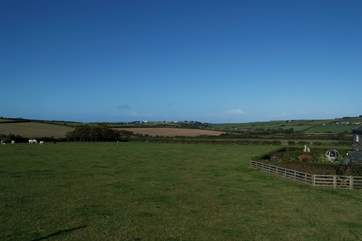 The view out across the open fields which surround Park House.
