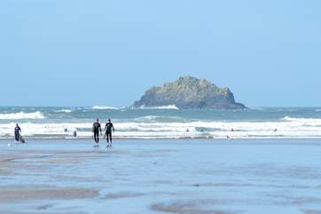 Polzeath beach is just down the road from Park House.
