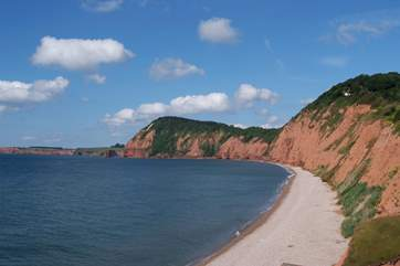 The amazing coastline at Sidmouth, a lovely Regency seaside town.